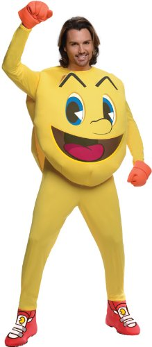 Deluxe Pac-man Adult Jumpsuit Costume. Officially licensed by Namco.