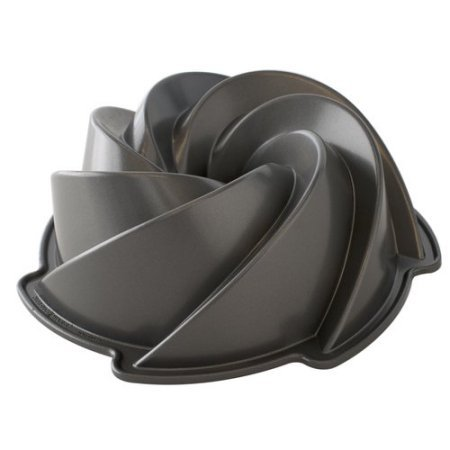 Nordic Ware Vintage Swirl Cast Baking Pan 8 cups (Cast Iron Bundt Pan compare prices)