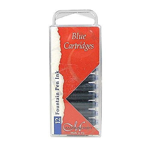 Manuscript Lot de 12 cartouches d'encre Bleu