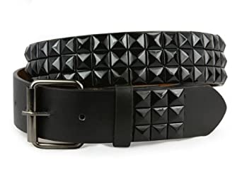 snap on rock black studded checker board pattern