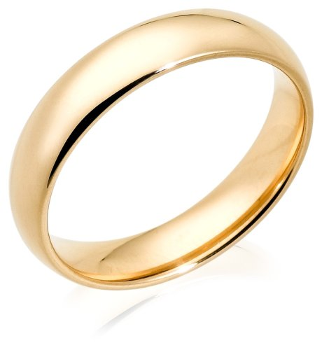 14k Yellow Gold 5mm Comfort Fit Men