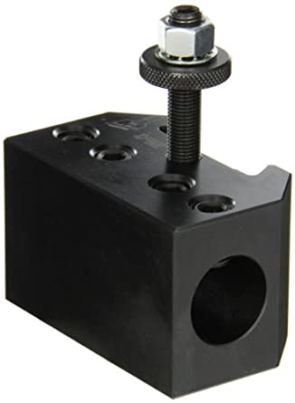 "Dorian Tool QITPN-4-CNC Heavy Duty Chromium Molybdenum Alloy Steel Quick Change Boring Bar Toolholder with CNC Locking System for QITP30N Quadra Indexing Quick Change Tool Post, 1"" Tool Capacity, 3-1/4"" Width, 1-63/64"" Height"