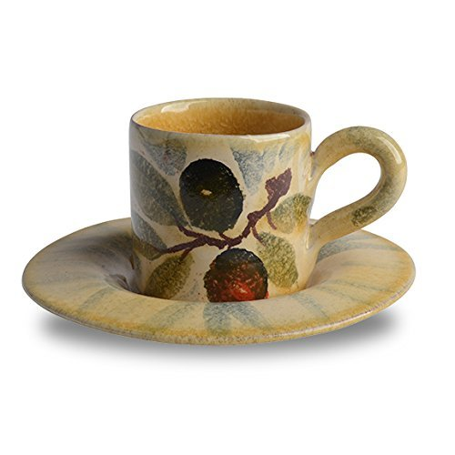 Italian Dinnerware - Espresso cup + saucer - Handmade in Italy from our Extra Virgin Collection
