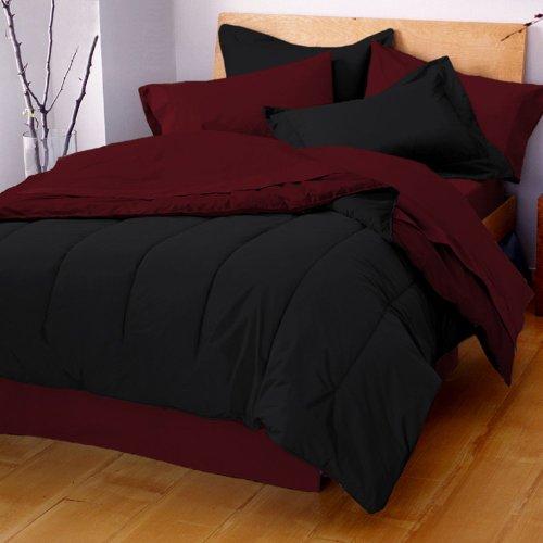 Martex Reversible King Comforter, Ebony/Burgundy front-726596