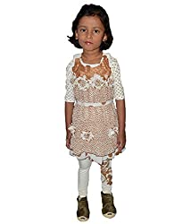 Motley Girls' Dress (ABC1216508_5 Years_Brown _5 Years)