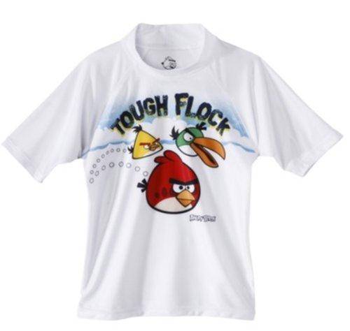 Angry Birds Boys' Rashguard - UPF 50 (White, 4)