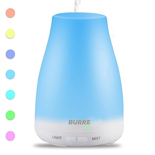 Aromatherapy Imperative Oil Diffuser - 100 ml Ultrasonic Humidifier with Silent Cool Mist Aroma - 7 LED Colors, Auto Shut-Off Adjustable Becloud Modes to Freshen and Fill Air with Scent