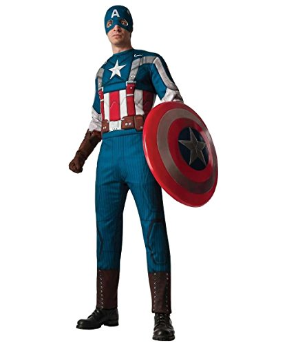 Retro Captain America Adult Muscle Costume
