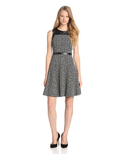 Taylor Women's Jacquard Dress with Faux Leather Trim