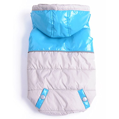 BINGPET Uniform Pet Puppy Dog Cat Winter Clothes Jacket , Blue S