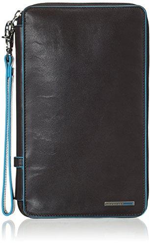 Piquadro Blue Square Porta Documenti, Pelle, Grigio Scuro, 22 cm