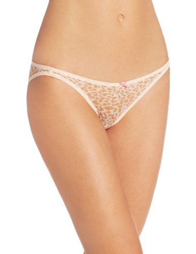 Betsey Johnson Women's XOX Mesh Side String Bikini Panty from Betsey Johnson