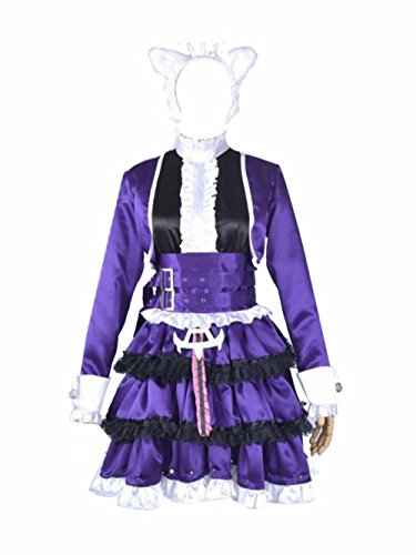 [PlayCos Dark Purple Dress Anime Cosplay Halloween Party Costume (S)] (League Of Legends Annie Cosplay Costume)