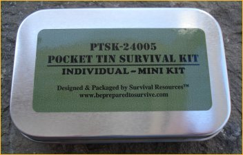 Pocket Tin Survival Kit Subdued by Survival Resources