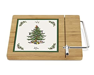 #!Cheap Spode Christmas Tree Bamboo Cheese Board