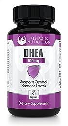 DHEA 100mg Supplement - Balance Hormone For Men & Women - 30 Capsules - 100% Money Back Guarantee