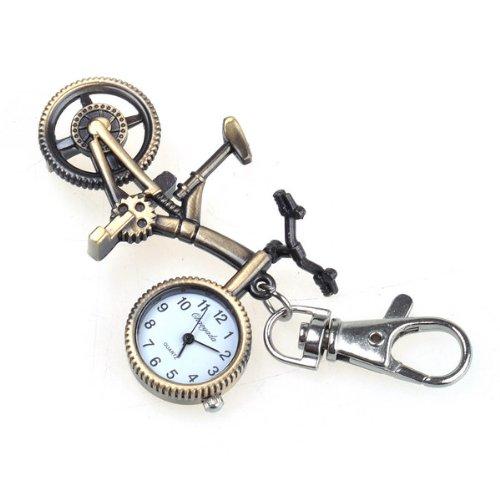 Bestdealusa New Vintage Steampunk Bike Necklace Quartz Pocket Watch