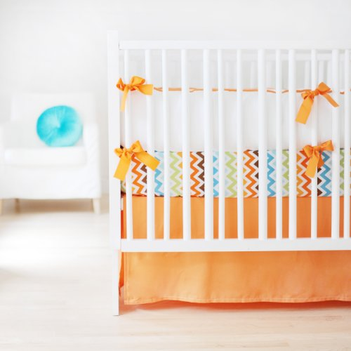 New Arrivals Sweet and Simple Crib Bedding Set, Tangerine, 3 Piece