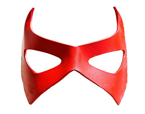Halloween RED Robin Superhero Leather Mask Comic Con Batman Batgirl Costume Unisex