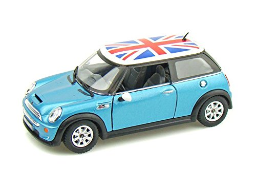 Mini Cooper S w/British Flag 1/28 Blue