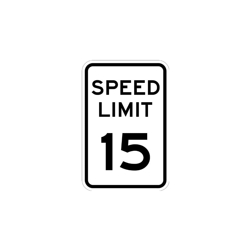 SmartSign MUTCD # R2 1 15 3M High Intensity Grade Reflective Sign, Legend Speed Limit 15, 18 high x 12 wide, Black on White