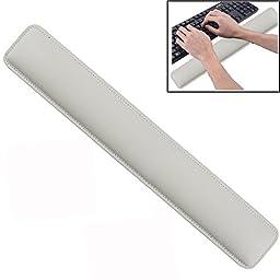 Cmhoo Keyboard Wrist Rest Support Comfortable Cushion Keyboard Pad Wrist Rest with Memory Foam for Laptops/ Notebooks/ Desktop Keyboard (18.3×3.2×1in, Keyboard Wrist White)