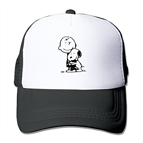 [Unisex Cartoon Boy With Dog Trucker Mesh Caps Hats Adjustable Black] (Kentucky Derby Costumes For Dogs)