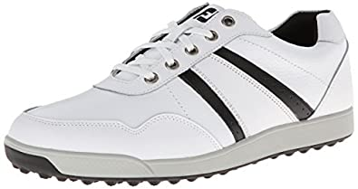 Footjoy Contour Casual Golf Shoes (White/Black, 9, Wide) 54363 NEW