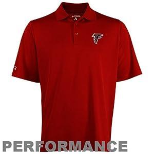NFL Antigua Atlanta Falcons Pique Polo - Red by Antigua