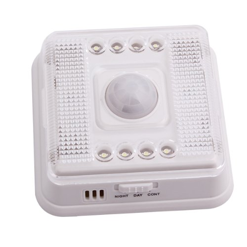 Generic Anti-Theft 8 Led Light White Lamp Pir Auto Lighting Sensor Motion Detector
