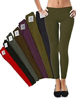 Mato & Hash Women's 90/10 Cotton Spandex Tights Pant Leggings Army XL
