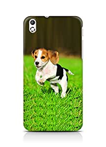 Amez designer printed 3d premium high quality back case cover for HTC Desire 816 (Cute Dog)