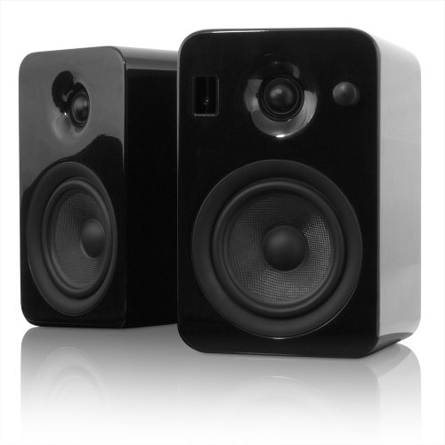 Kanto Yumiblkgl Powered Bookshelf Speakers With Bluetooth Technology (Black Gloss)