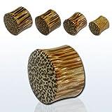 6g 4mm Double Flare Coconut Wood Plug Earring Ear Expander Ear Stretcher Piercing Body Jewellery Wooden Plug