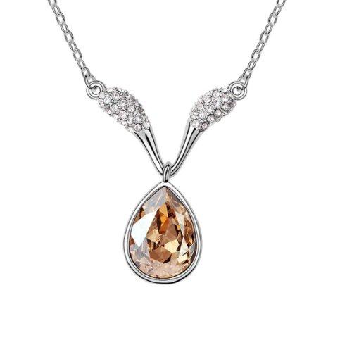 Boxingcat Fine Jewelry Swarovski Style Clear Austrian Crystal Pendant Necklaces Bgca6221 front-878764
