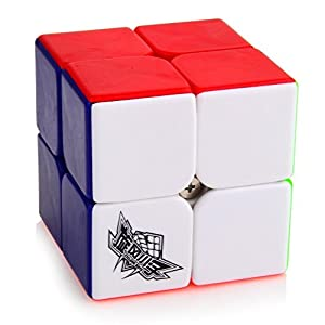 D-FantiX Cyclone Boys Speed Cube 2x2 3x3 4x4 Stickerless Smooth Magic Cube Puzzles Toy Bundle Set of 3