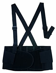 Valeo 9-Inch Heavy-Duty Elastic Belt (Black, Medium)