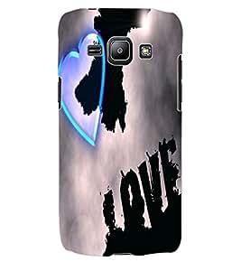 ColourCraft Love Heart Design Back Case Cover for SAMSUNG GALAXY J1