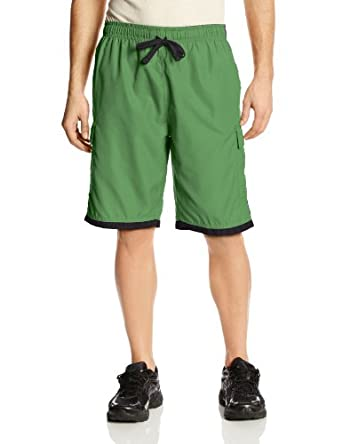 U.S. Polo Assn. Men's Side Stripe Basic Cargo with Big Pony, Amazon Green, Small