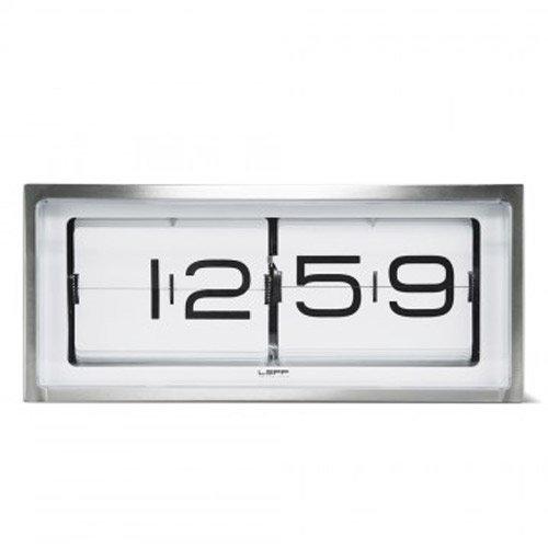 LEFF amsterdam - Brick Tisch/Wanduhr - Stahl/weiß - Erwin Termaat - Design - Uhr
