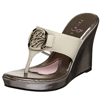 Paris Hilton Women's Ivy Wedge Sandal