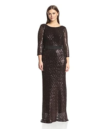 A.B.S. by Allen Schwartz Women's Elbow Sleeve Long Gown