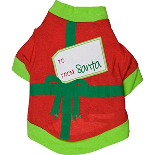 [Pet Shirt,Haoricu Christmas Dog Cotton Costume Small Dog Cat Pet Clothing Puppy T Shirt Apparel Dog Outfit Coats Tops (S,] (Cheap Pet Cat Costumes)