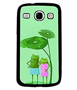 PRINTVISA Frog Pair Premium Metallic Insert Back Case Cover for Samsung Galaxy Core - I8260 / I8260 - D6087