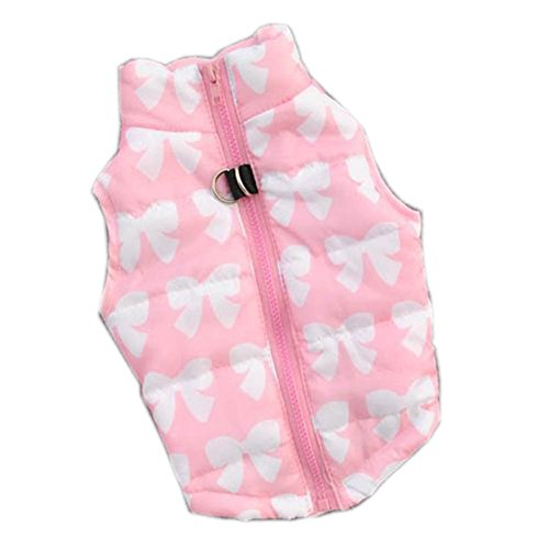 Urparcel Puppy Pet Dogs Padded Vest Harness Warm Coats Jackets Costumes Pink Xx-Small