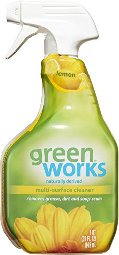 Green Works All Purpose Cleaner Spray, Lemon, 32 Ounces (Pack of 3) (Packaging May Vary)