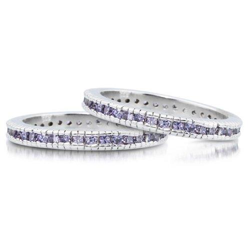 Studio 925 Lucinda Amethyst CZ Sterling Silver Eternity Ring, 6