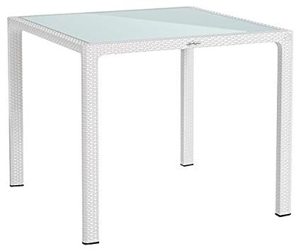 Lechuza Table à manger Table 90 blanc