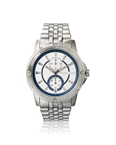 Geoffrey Beene Men's GB8036SL Silver/White Metal Alloy Watch