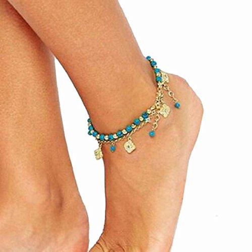 Culater® Women Bohemian Beach Turquoise Barefoot